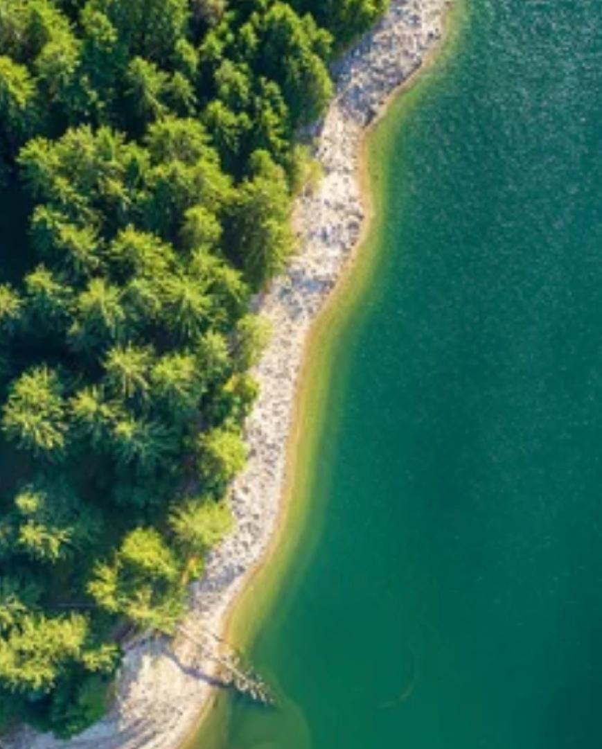 Clean water coastline